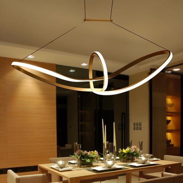 Twisted LED Pendant Light - Modern Style Ceiling Lamp at Lifeix Design