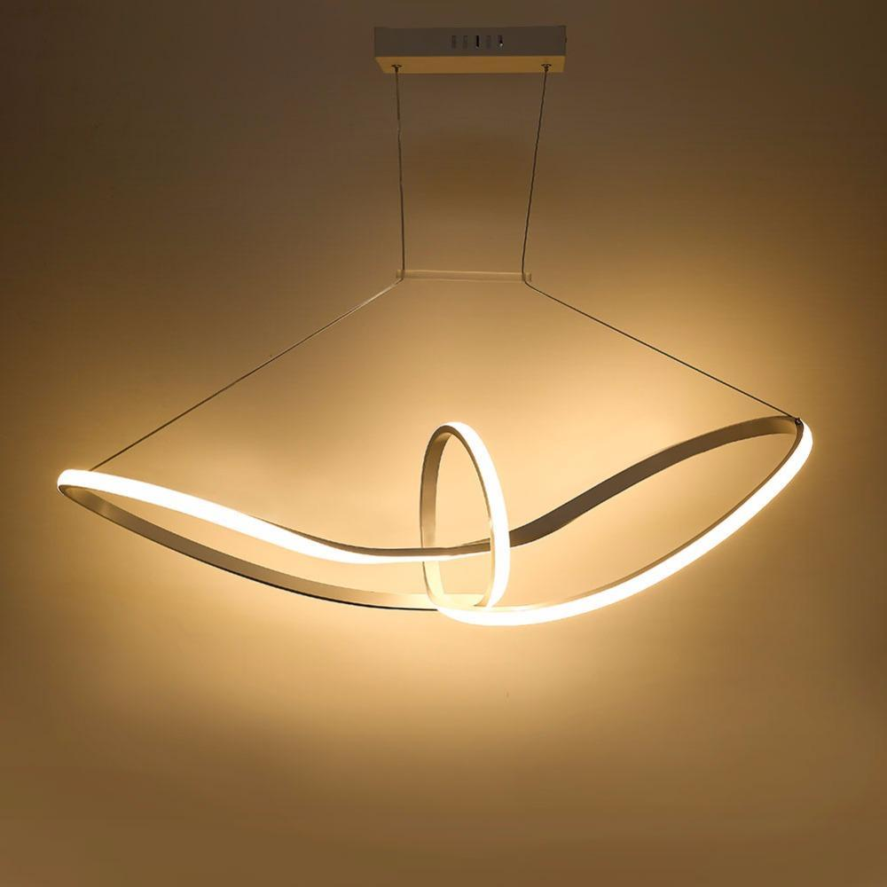 Buy Twisted Led Pendant Light Modern Style Ceiling Lamp