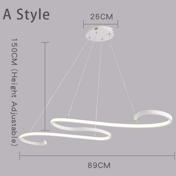 Buy Twisted Snake Suspended Lighting Fixture Remote