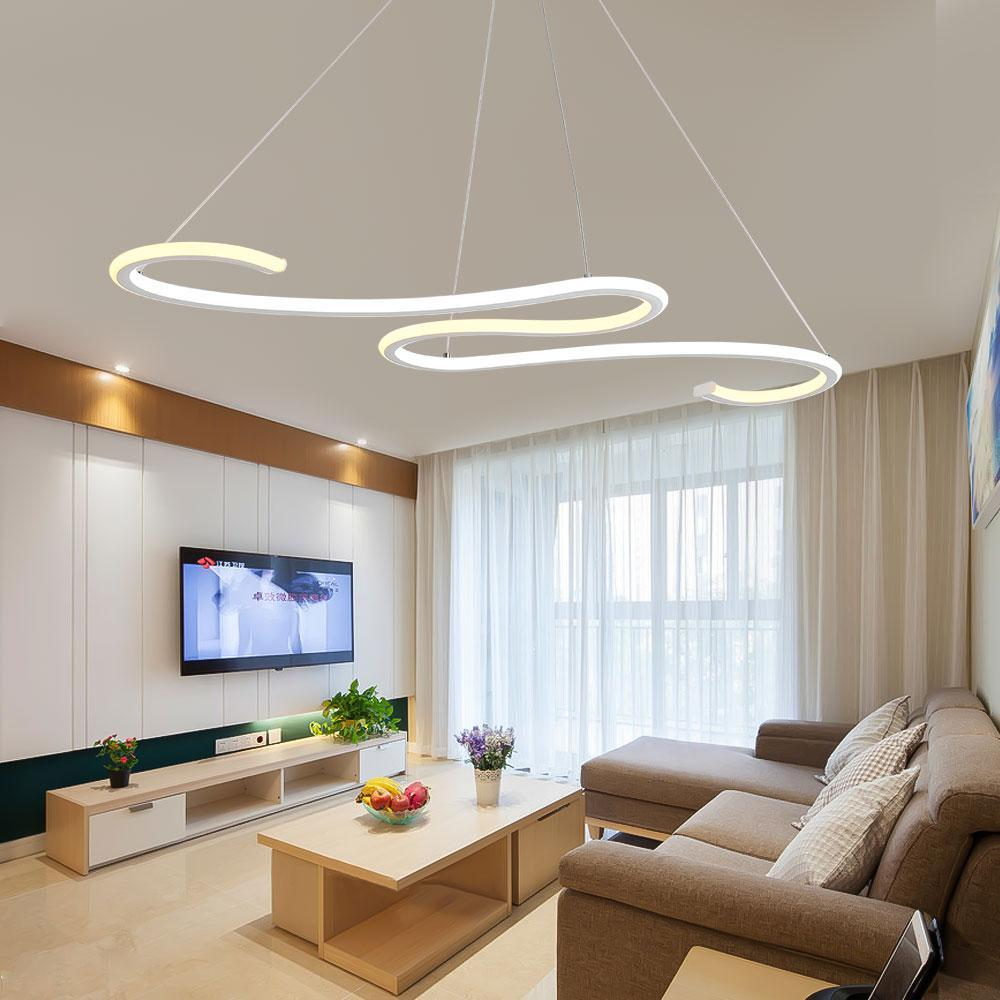 Twisted Snake Suspended Lighting Fixture - Remote Controlled Modern Ceiling Lamp at Lifeix Design