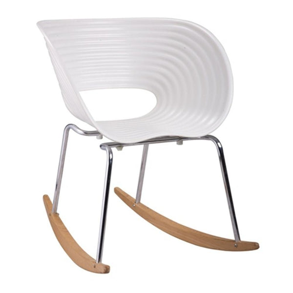 White Vac Arm Rocker Chair