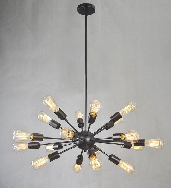 Vintage 18 Lights Loft Style Droplight Chandelier at Lifeix Design