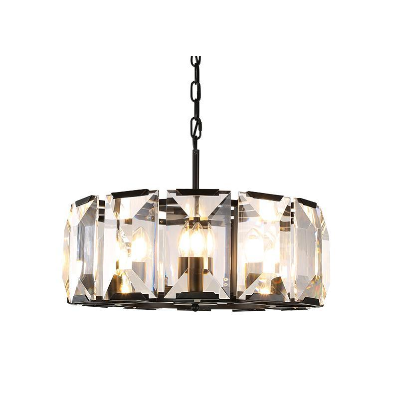 Vintage American Crystal Pendant Lamp - Crystal Wheel Light at Lifeix Design
