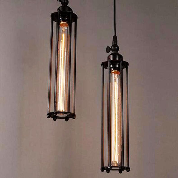 Vintage Country Style Pendant Light - Iron Cage Droplight at Lifeix Design