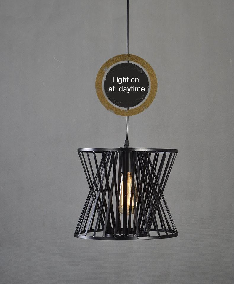 Vintage Metal Cage Design Pendant Light at Lifeix Design