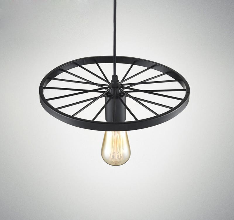 Vintage WHEEL Industrial Retro Pendant Lights at Lifeix Design