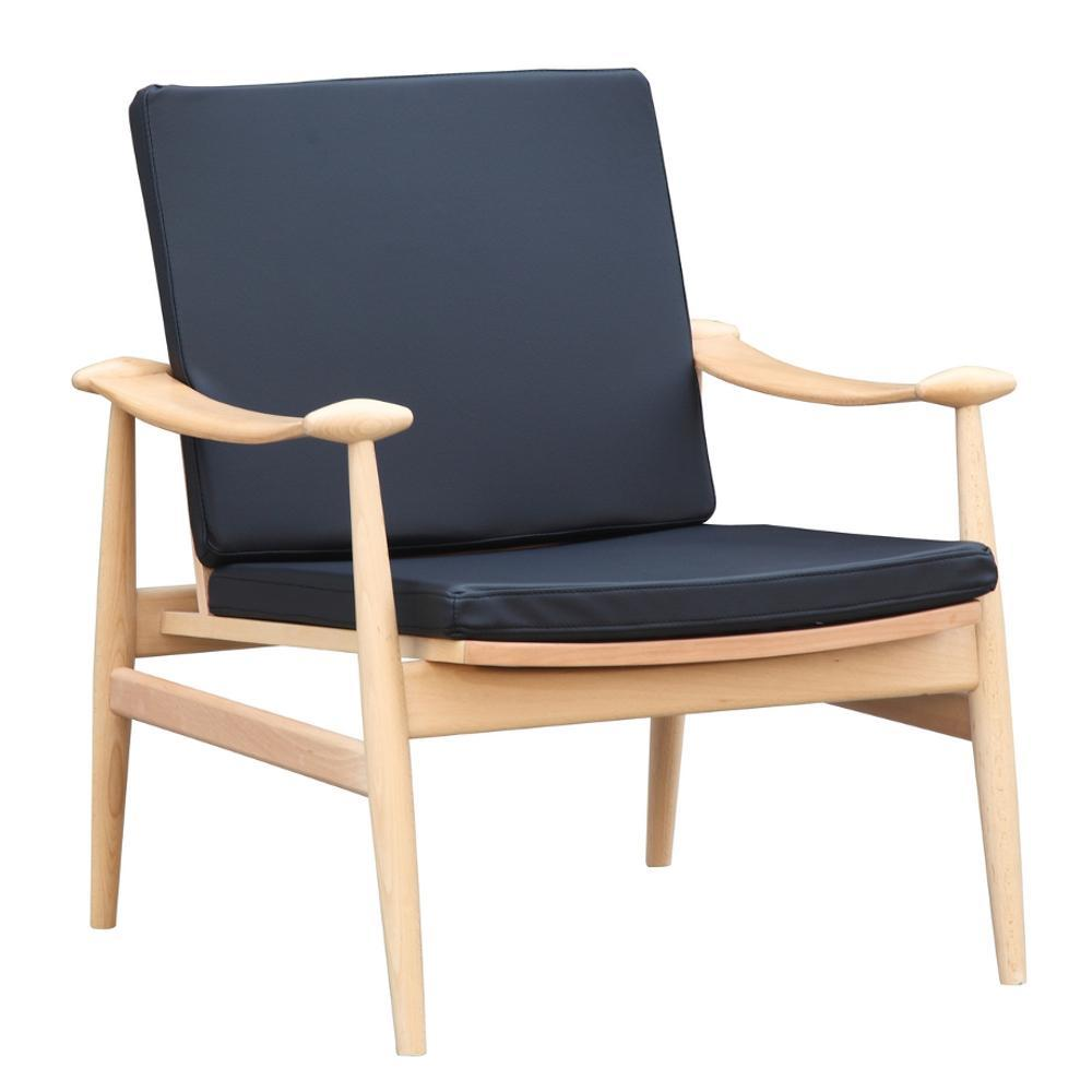 Black Vogel Lounge Chair
