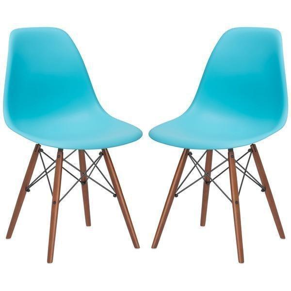 Dining Chair Aqua / (Set Of 4) Vortex Side Chair Walnut Base(Set Of 4)