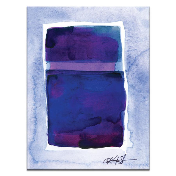 "Artwork 16x20x1.5"" Watercolor Abstraction 207 Artwork by Kathy Morton Stanion"
