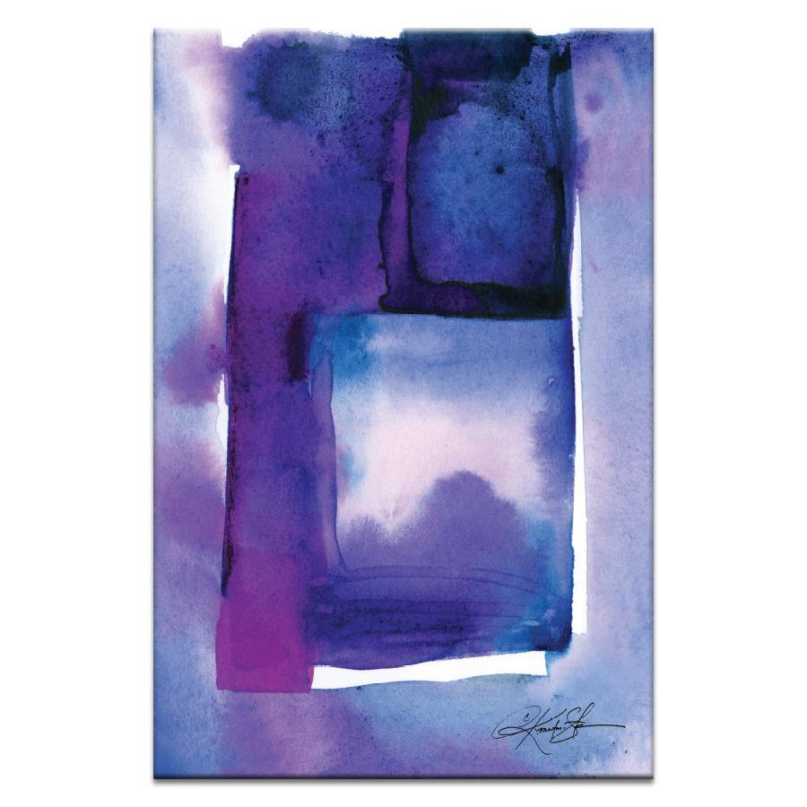 "Artwork 20x30x1.5"" Watercolor Abstraction 214 Artwork by Kathy Morton Stanion"