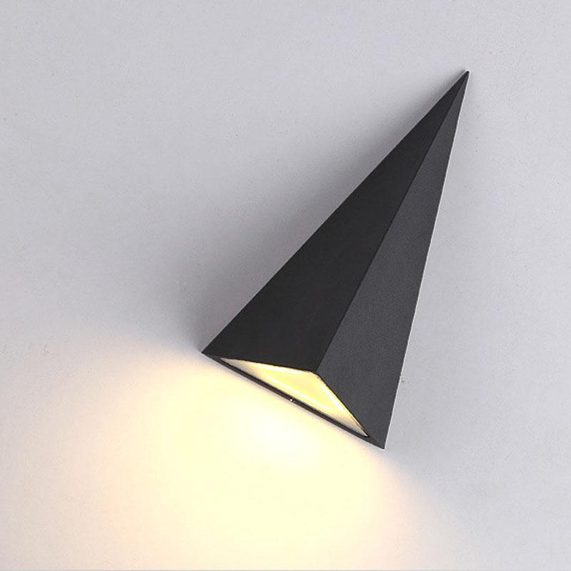 Waterproof Indoor/Outdoor Pyramid Wall Lamp at Lifeix Design