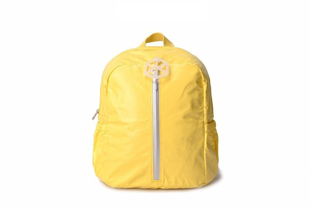 Backpack Yellow White-CUTIE Kids Backpack Paper Made, Waterproof, Tear Proof by Lifeix, Draw on it, DIY your own bag