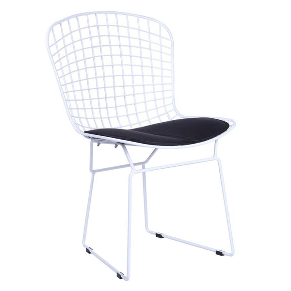 Black White Wire Side Chair