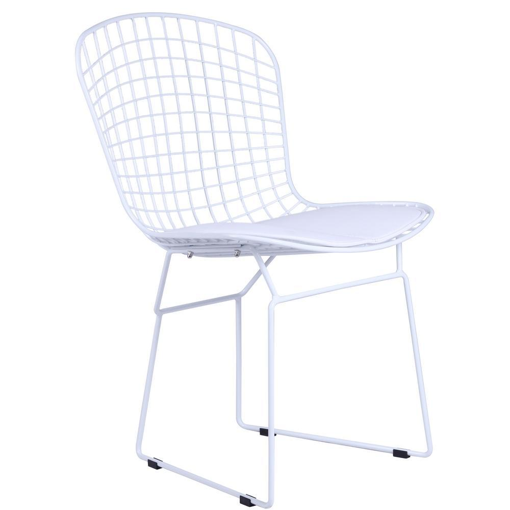 White White Wire Side Chair