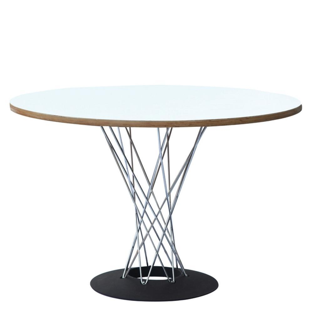 White Wire Dining Table 42""