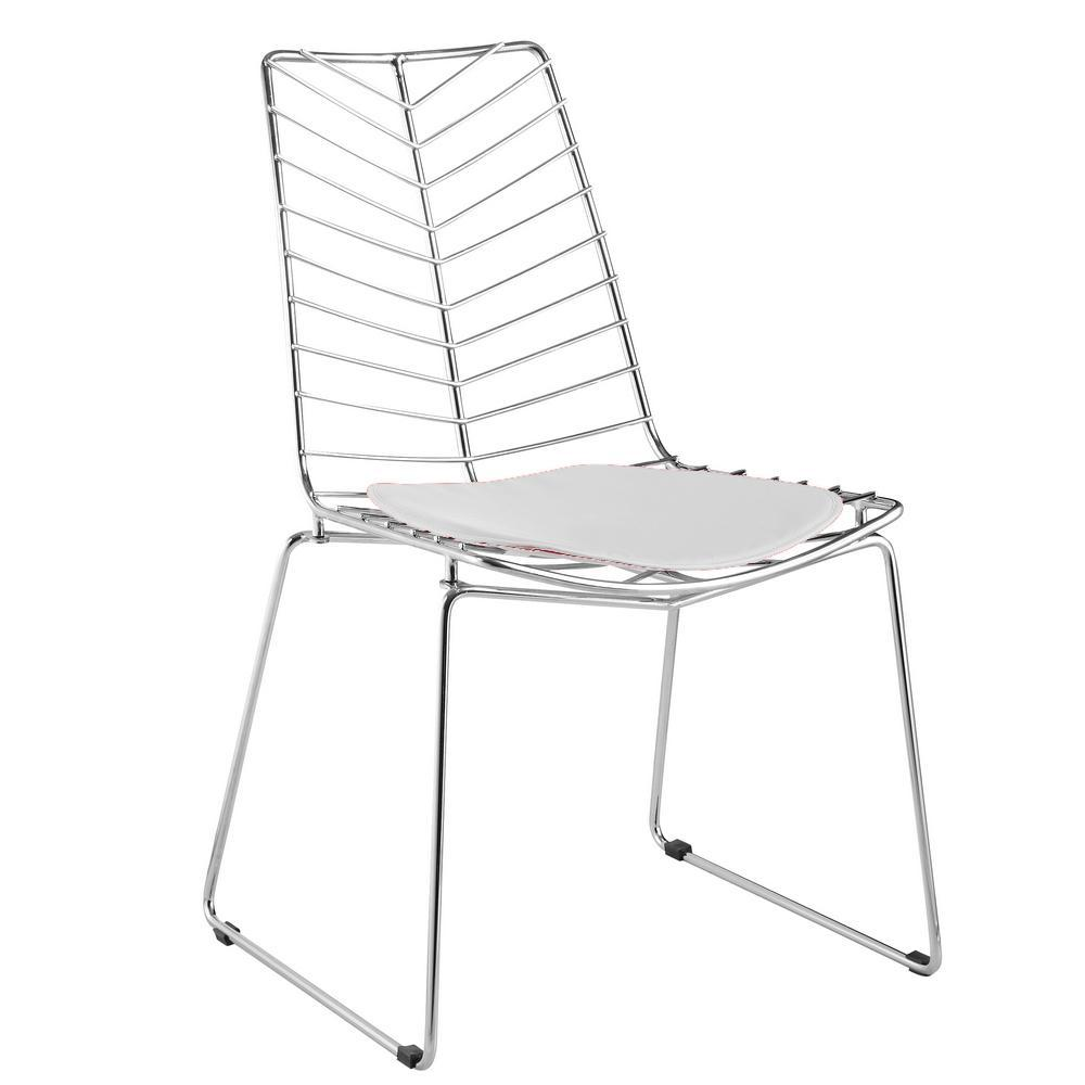 White Wire Leaf Chair