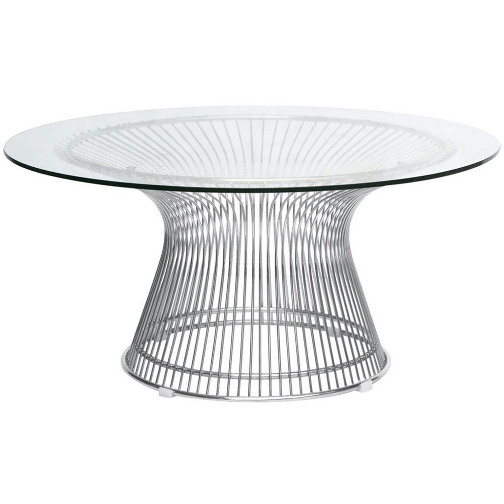 Silver Wire Side Table