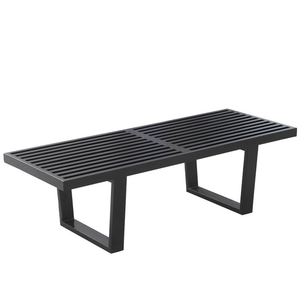 Black Wood Bench 48""