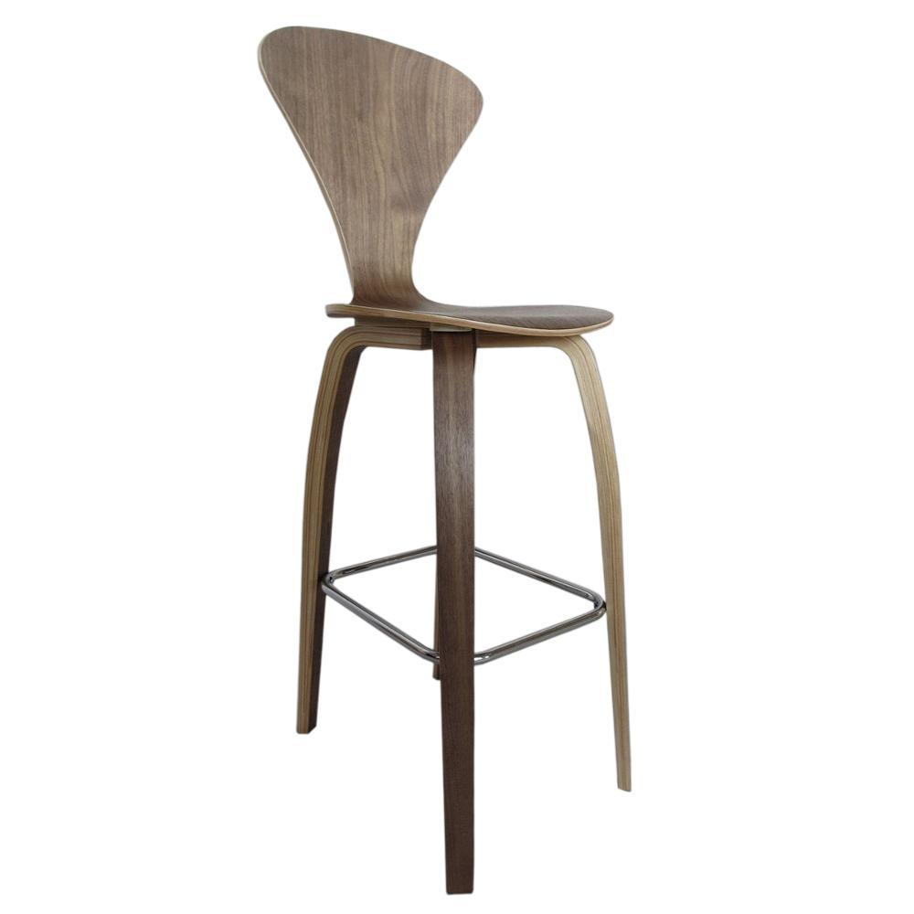 Walnut Wooden Bar Chair 30""