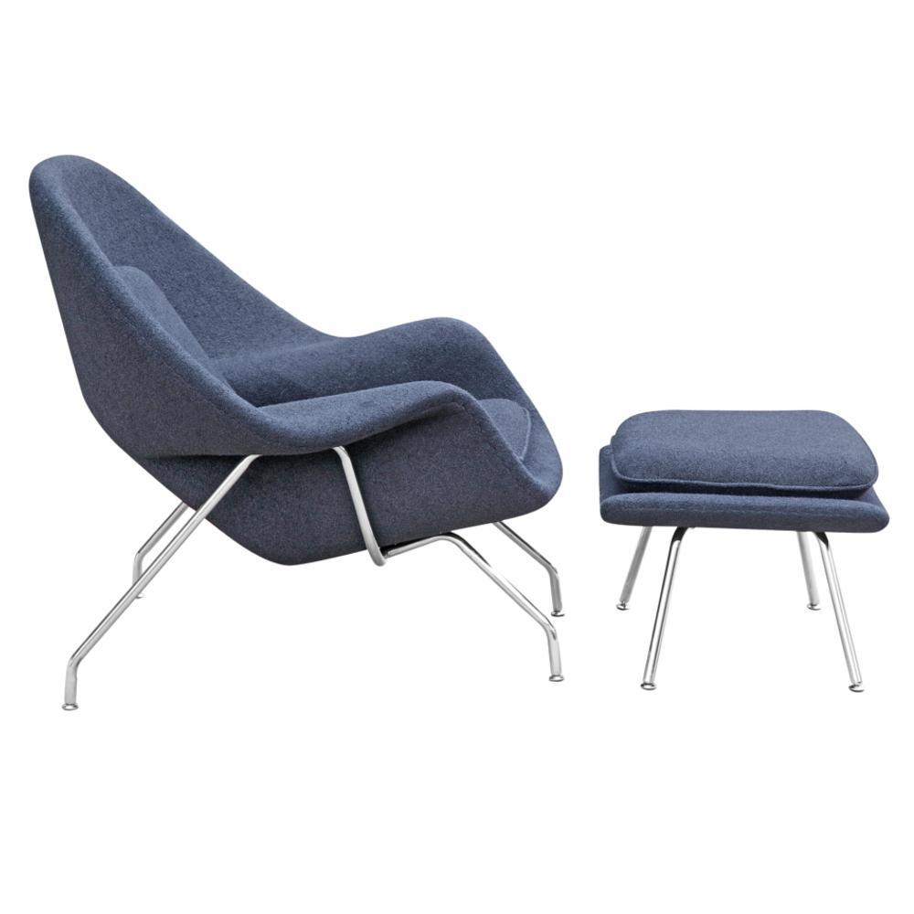 Woom Chair and Ottoman