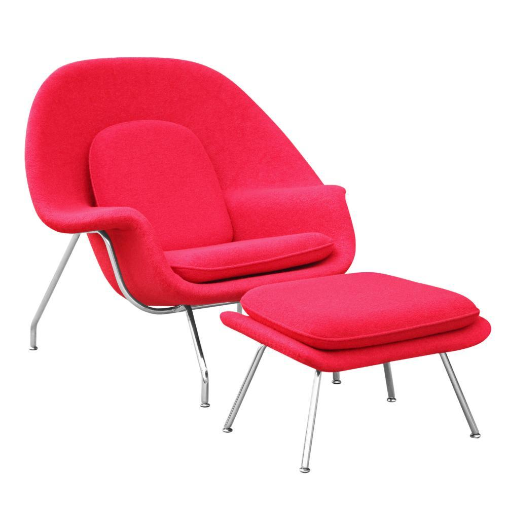 Red Woom Chair and Ottoman