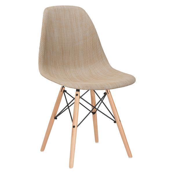 Dining Chair Beige / Single Woven Vortex Dining Chair Natural Base