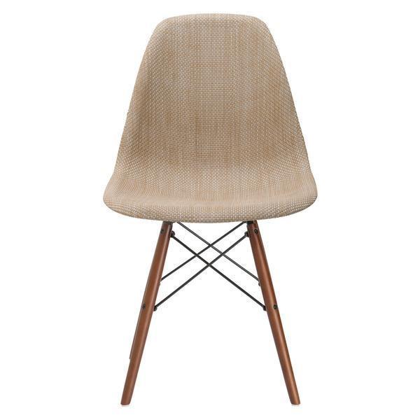 Dining Chair Woven Vortex Dining Chair with Walnut Base