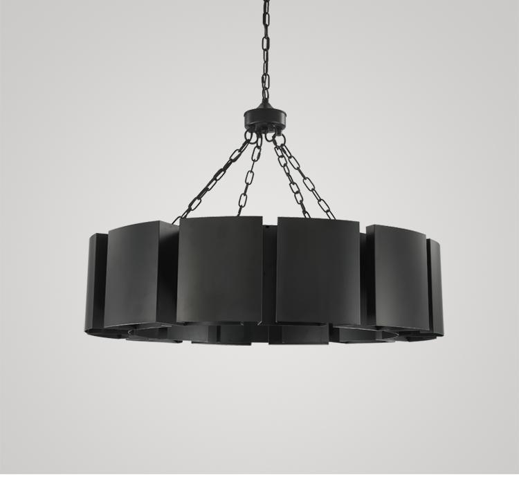 Wrought Iron Industrial Style Pendant Light - Vintage Retro Lamp at Lifeix Design