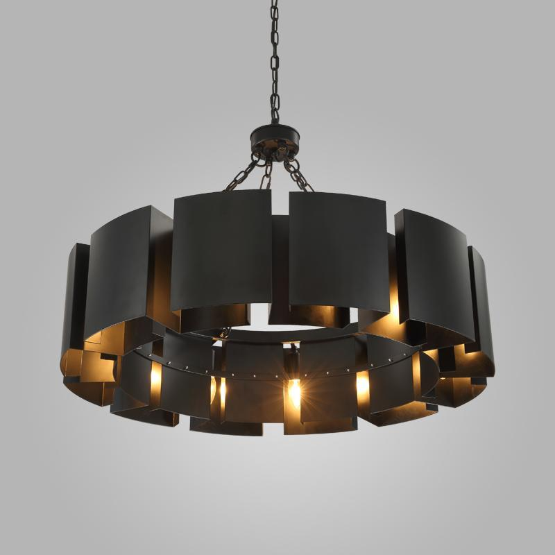 buy wrought iron industrial style pendant light - vintage retro lamp