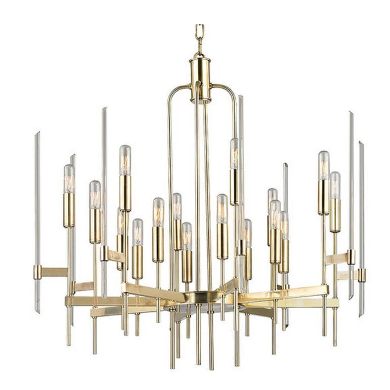 Wrought Iron Retro Chandelier - American Style Personality Lamp at Lifeix Design
