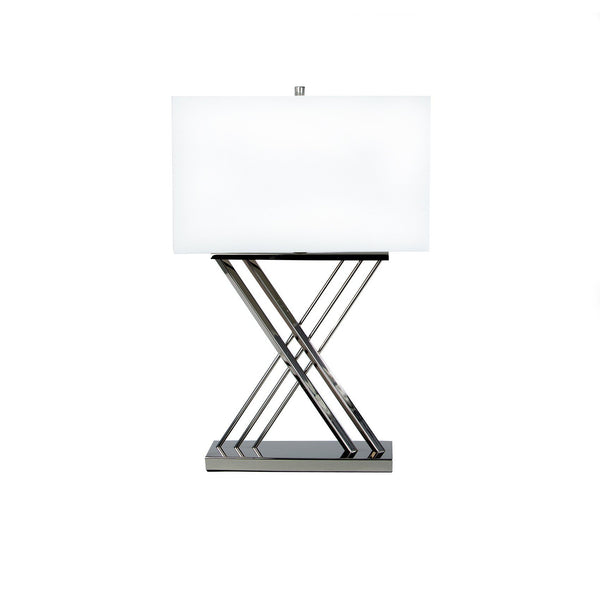 X shape chrome - table lamp