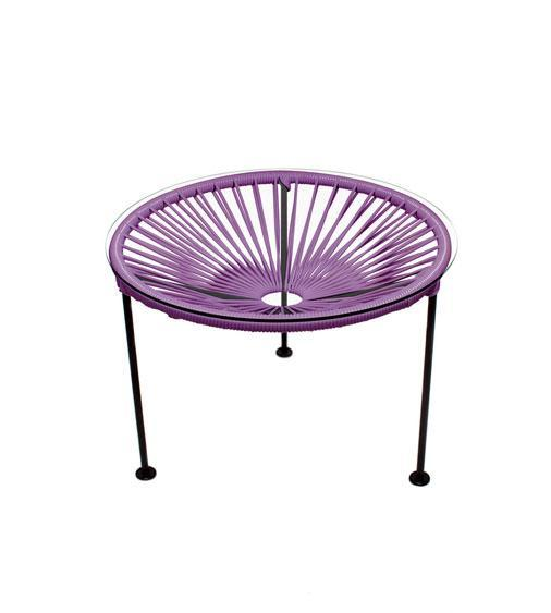 Side Tables Orchid Weave on Black Frame Zica Table on Black Frame