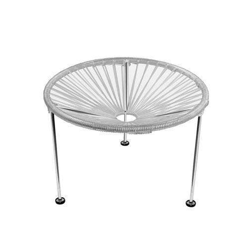Side Tables Clear Weave on Chrome Frame Zica Table on Chrome Frame