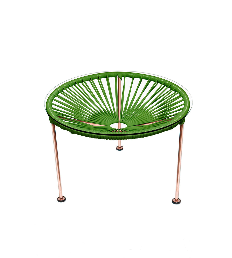 Side Tables cactus weave on Copper Frame Zica Table on Copper Frame