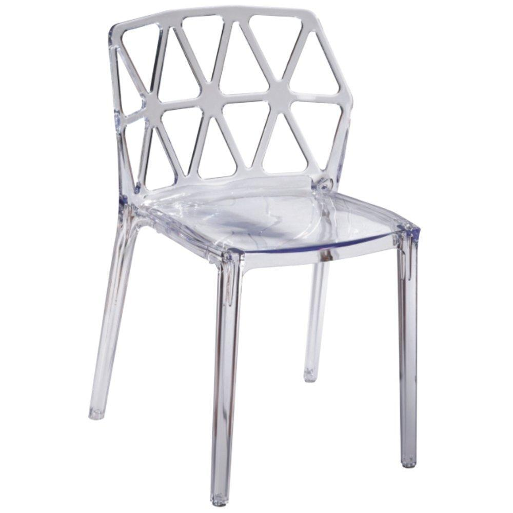 Clear Zig Zag Dining Chair