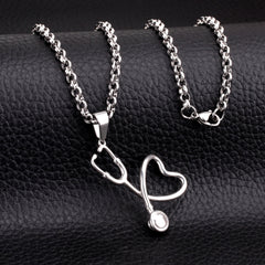 Romantic Heart To Heart Echometer Pendant Necklace