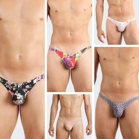 Five pack blazing briefs for men by Ochox. Sexy, daring men's bikini briefs.