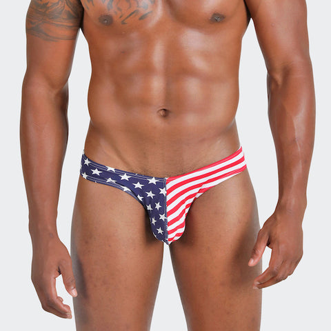 Born free men's briefs with a sexy low-waist line, celebrate July 4th in Style!