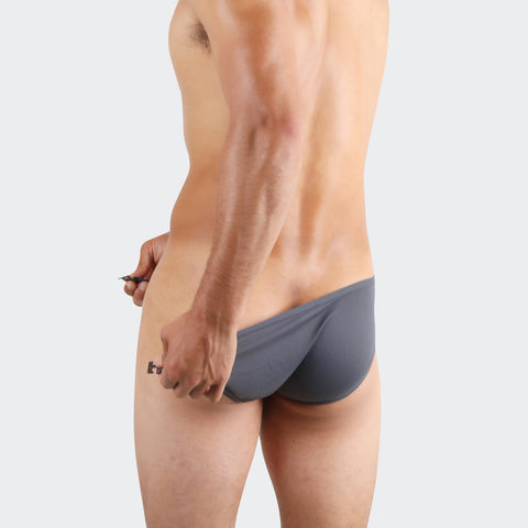 Grey Buckle up mens bikini are sexy designer underwear. Daring with side buckle yet extremely comfortable