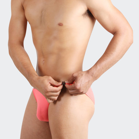 Dark Blue Buckle up mens bikini are sexy designer underwear. Daring with side buckle yet extremely comfortable