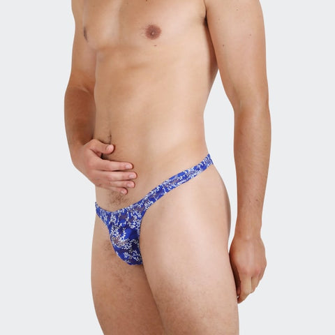 Gorgeous things for men by Ochox, Blue color, beautiful see-through fabric