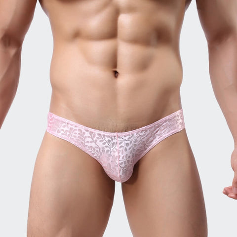 Naturally Naughty men's briefs in pink lace by Ochox
