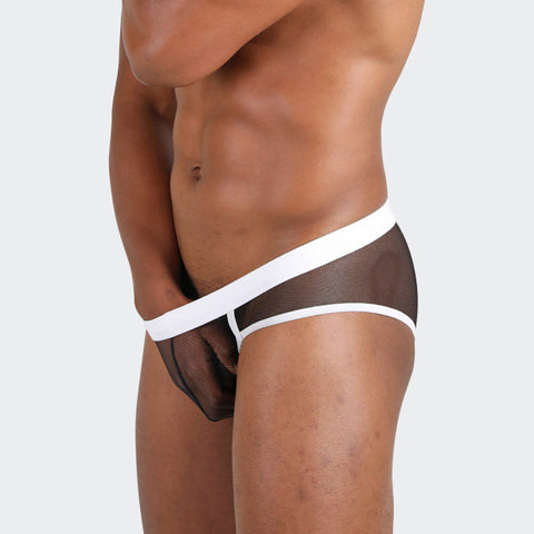 Net effect men's briefs by Ochox, black see-through sexy men's briefs
