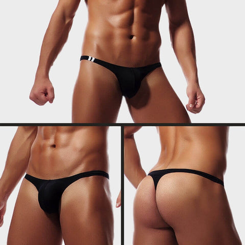82e5dcd05e5e Solid Thongs For Men in black soft and sexy by Ochox
