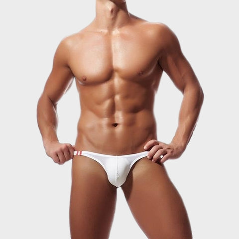 Solid Thongs For Men in white soft and sexy by Ochox