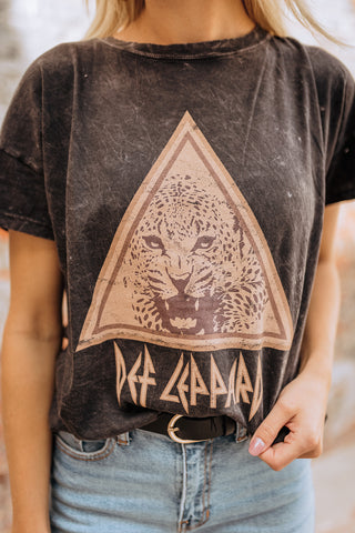 Def Leppard Washed Graphic Tee S-L $49