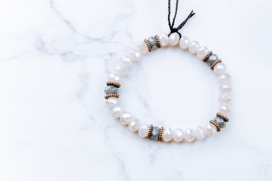 Grace Ivory Stretch Bracelet