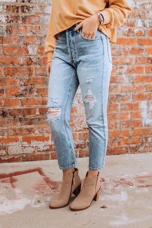 Vintage Distressed High Rise Denim