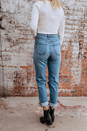 Look This Way Distressed Skinny Jeans