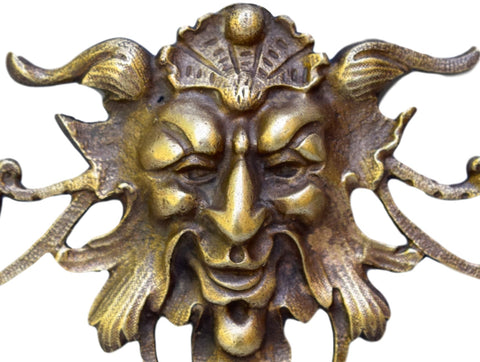 bacchus bronze pediment